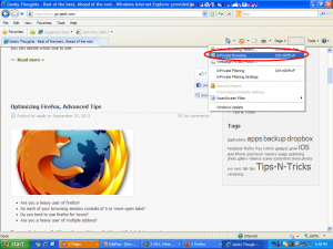 Private Browsing in Internet Explorer